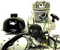 Веломотор / мотовелосипед в сборе 80см3/ 80 сс заводского качества без стартера полный комплект