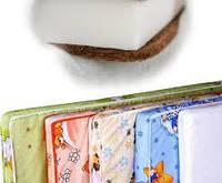 Матрас в детскую кроватку двухслойный кокос-поролон