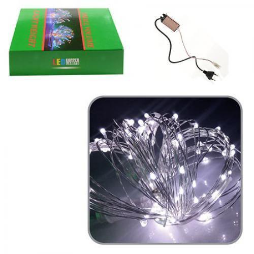 Гирлянда светодиодная LED наружная с контроллером 10м White R82853-1 CNV (54968)