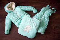 Детский Зимний комбинезон  (ТРАНСФОРМЕР) 3-ка(курточка,штани та конверт)  ОТ 0 ДО 2 ЛЕТ, фото 1