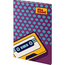 Книга записная KITE BeSound-3 K19-260-3 интегральная обложка В6, 80 листов, клетка, фото 3