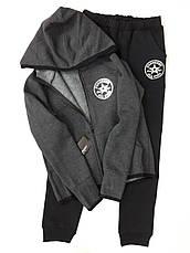 9f0624503da2 Детский теплый спортивный костюм с перчаткой Конверс Начес унисекс, антрацит,  р.122-