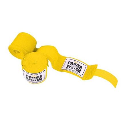 Бинты для бокса Power System PS - 3404 Yellow, фото 2