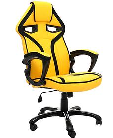 Офисное кожанное кресло Racing YELLOW