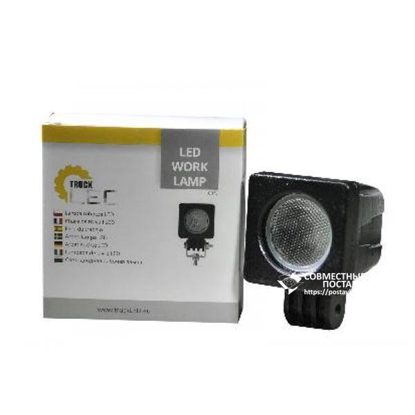 10w / 30 (1 x 10W / широкий луч, квадратный корпус) 800 LM LED Фара рабочая L0078 ( JFD-1010) (ПОЛЬША) 10 Ватт