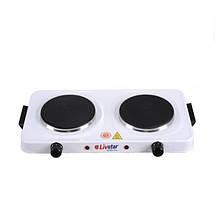 Электрическая 2х конфорочная плитка дисковая LIVSTAR