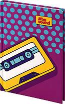 Книга записная KITE BeSound-2 K19-199-2 твердая обложка А6, 80 листов, клетка, фото 2