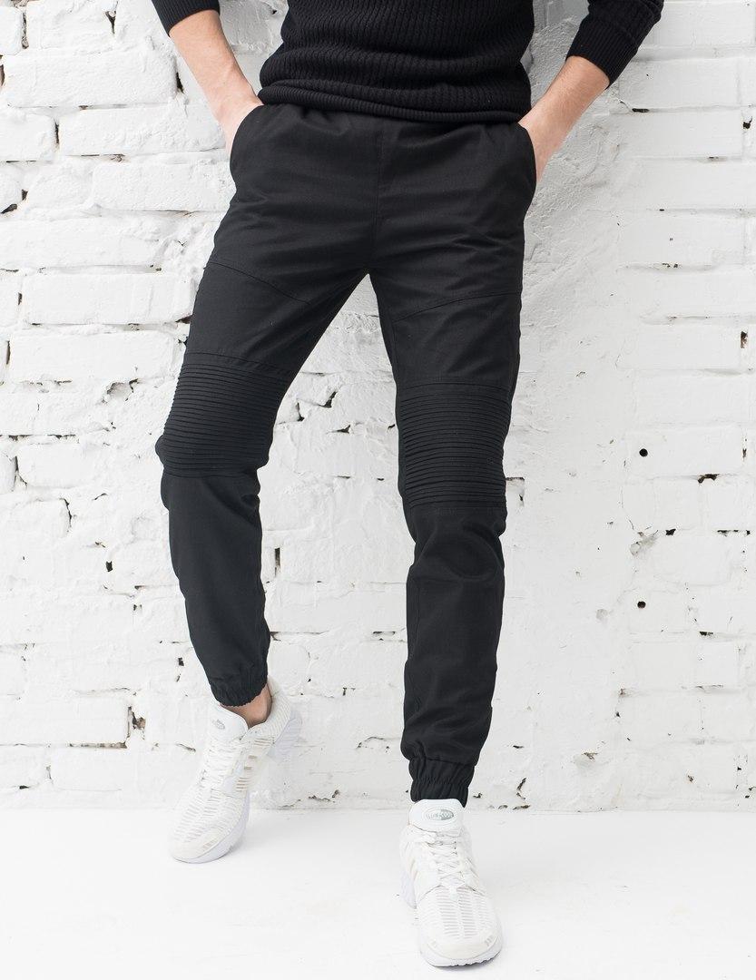 Штаны мужские Pobedov Cotton Pants Feed качественные топовые фирменные молодежные (черные), ОРИГИНАЛ