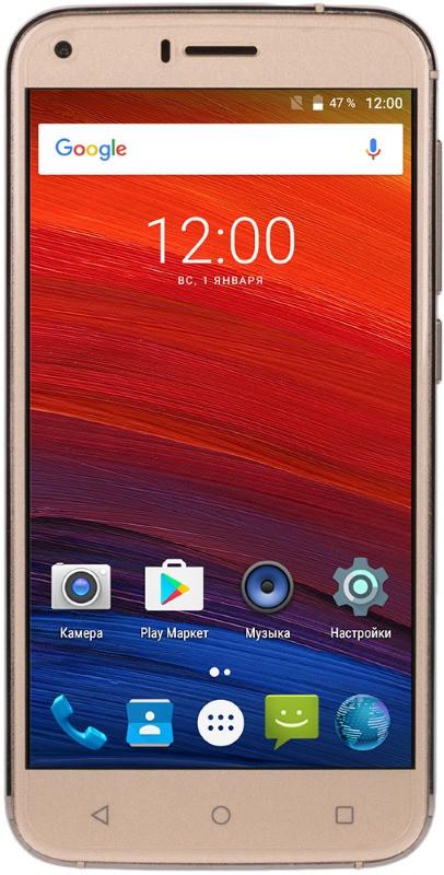 Смартфон BRAVIS A506 Crystal Dual Sim (золотистий)