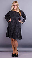 Повседневное женское демисезонное платье больших размеров. размеры:50-64, фото 3