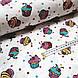 Ткань поплин пирожные желто-малиново-мятные на белом  (ТУРЦИЯ шир. 2,4 м) №32-60, фото 3