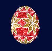 """3D светодиодная конструкция пасхальное яйцо """"Праздничное"""" 2,9*2,22"""