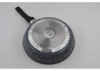 Сковорода гранитная антипригарная бакелитовая ручка Benson BN-510 (22*5 см)