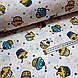 Ткань поплин пирожные желто-бирюзовые на белом (ТУРЦИЯ шир. 2,4 м) №32-61, фото 3