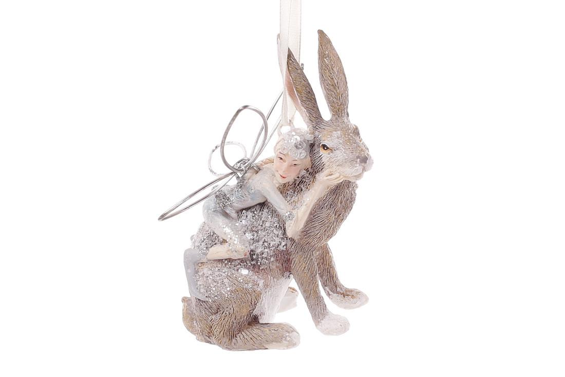 Декоративная фигурка Кролик с феей 9см (838-150)