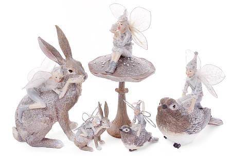 Декоративная фигурка Кролик с феей 9см (838-150), фото 2