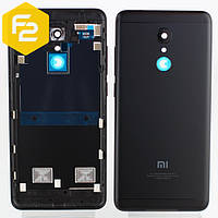 Xiaomi Redmi 5 задняя крышка (корпус) черная + стекло камеры