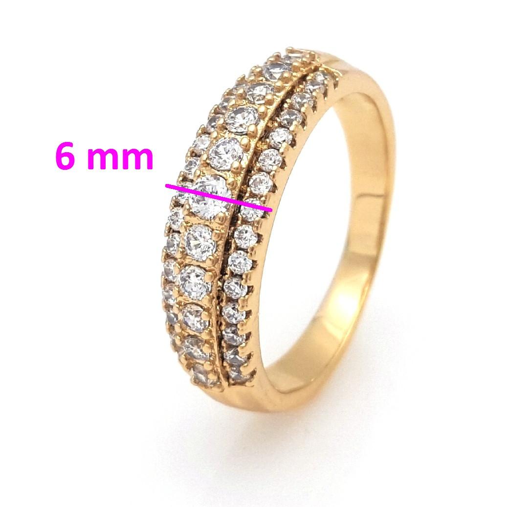 Кольцо Три дорожки, с камнями, , р.18,5 р.19,5, позолота