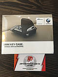 Кожаный футляр BMW для ключей со стальным зажимом, 82292408819. Оригинал. Кофейный цвет., фото 3
