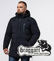 """Черная зимняя мужская куртка Braggart """"Status"""" (Бреггарт «Статус») больших размеров"""