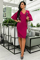 Женское Платье (141)706. (5 цветов), Ткань: креп + бантик. Размеры: 44, 46, 48, 50., фото 2