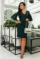 Женское Платье (141)706. (5 цветов), Ткань: креп + бантик. Размеры: 44, 46, 48, 50., фото 3