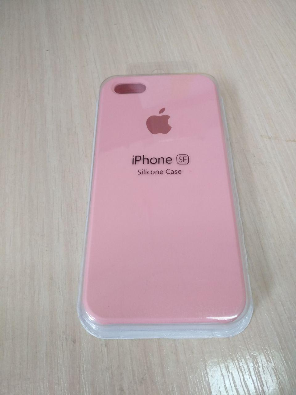 Чехол для Apple Silicone Case (06) iPhone 5/5S/SE light pink