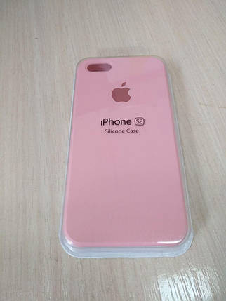 Чехол для Apple Silicone Case (06) iPhone 5/5S/SE light pink, фото 2