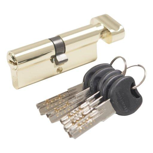 Цилиндровый механизм 60(30Тx30) с тумблером Imperial Золото