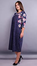 Женское платье трикотажное большие размеры: 52-68, фото 3
