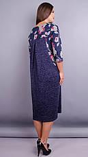 Женское платье трикотажное большие размеры: 52-68, фото 2