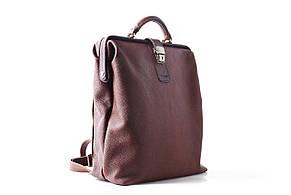Рюкзак чоловічий шкіряний на рамі ручної роботи «City». Brown