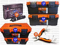 6пр. Набор ящиков для инструмента с фонариком Police BL-T8628 и мультитулом (отвертка,нож,плоскогубцы и д.р)