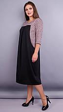 Женское платье трикотажное большие размеры: 66-68, фото 2