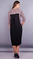 Женское платье трикотажное большие размеры: 66-68, фото 3