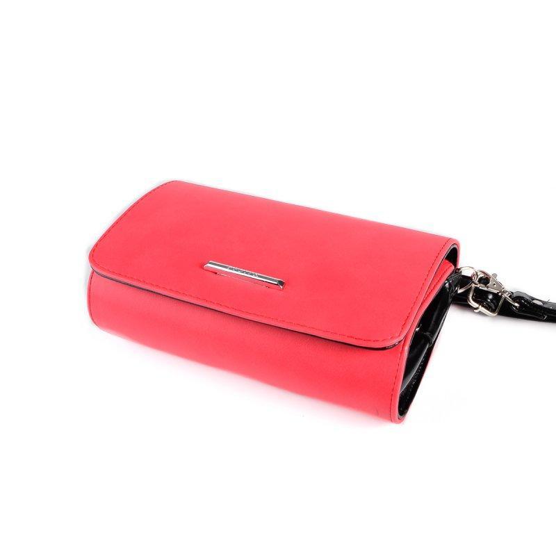 0c2d39c71cb8 Маленькая сумка-клатч М63-92/Z коралловая через плечо с черными вставками,  цена 345 грн., купить в Днепре — Prom.ua (ID#437172149)