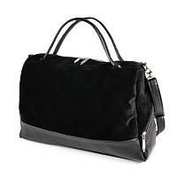 5ab7d8e30a9e Большая замшевая сумка М113-48 замш женская черная на плечо  продажа ...