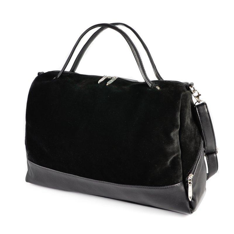 d6ab48cc63b8 Замшевая сумка М113-48/замш женская большая черная на плечо: продажа ...