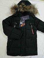 "Модна дитяча зимова куртка ""STG"" на хлопчика р. 32-44 чорний"