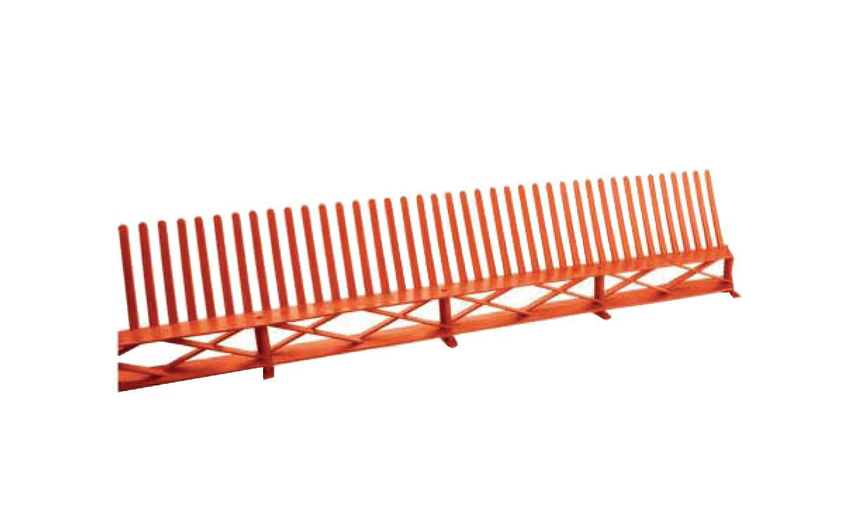 Гребень свеса с вентиляционной решеткой Красный (0948)