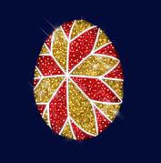 """3D светодиодная конструкция пасхальное яйцо """" Калейдоскоп"""" 2,9*2,22"""