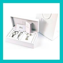 Часы подарочные DIOR silver набор