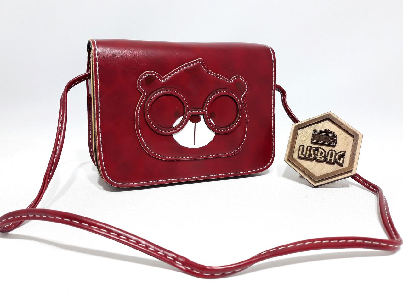 efa8362995c3 Маленькая бордовая сумка через плече с милым медведем: продажа, цена ...