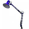 Лампа настольная на струбцыне E27 LMN093 синяя