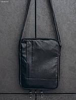Черная сумка через плечо Staff black leather, фото 1