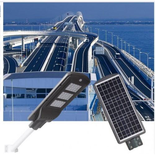 Лед светильник на солнечной батарее 60W с датчиком движения.