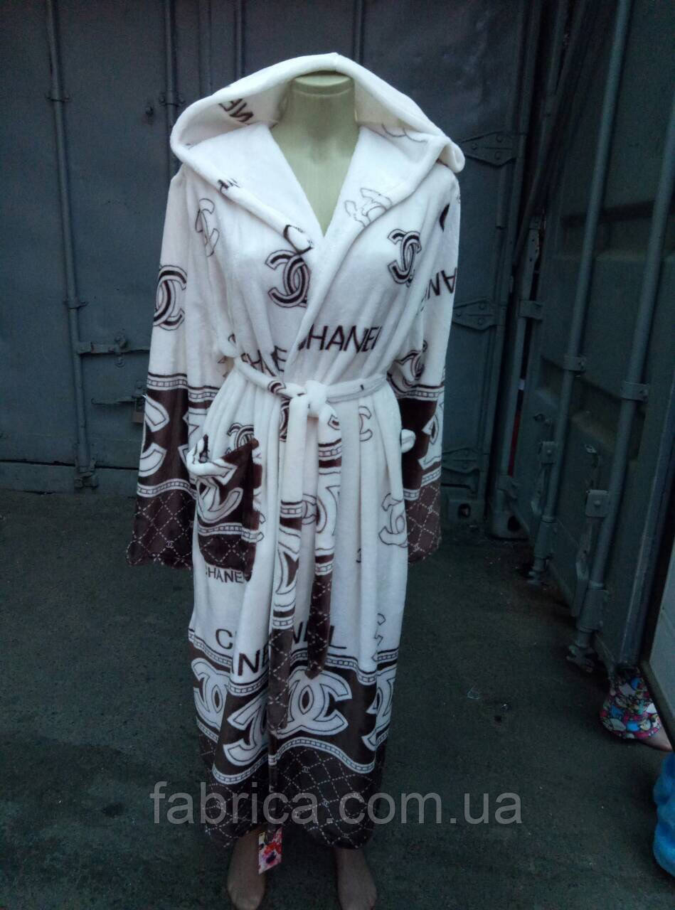 Халаты с капюшоном махра, размеры M L XL XXL до 54