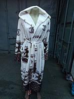 Халаты с капюшоном махра, размеры M L XL XXL до 54, фото 1