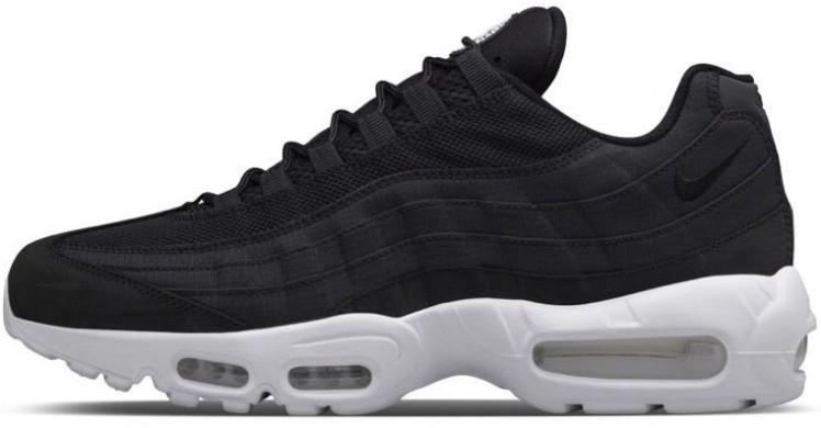 Мужские кроссовки Nike Air Max 95 Black White Черные