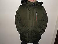 Мужская зимняя куртка зеленая 6648.